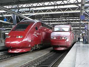 Thalys treinen in station
